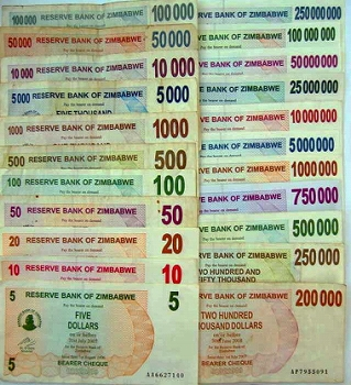 ジンバブエ 紙幣