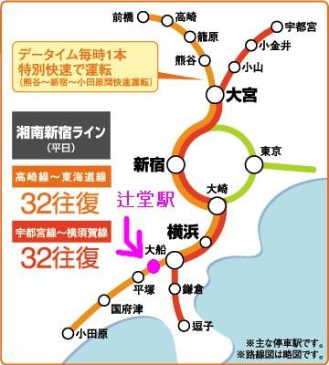 湘南新宿ライン 辻堂駅 リステージタワー湘南辻堂