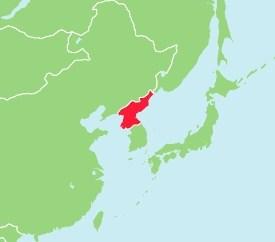 北朝鮮 中国 地図
