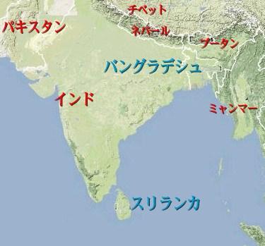 スリランカ 地図