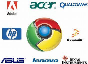 Google Chrome クローム 協力 企業 パートナー