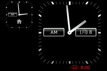 ブラックベリー 時計 アプリ 2地域 時差
