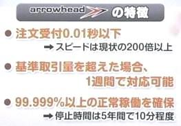 arrowhead アローヘッド 東証 システム