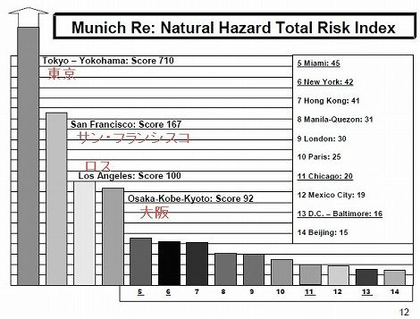 自然災害 東京 発生リスク