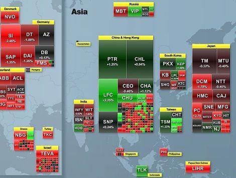 株 ヒートマップ 地図 株式市場