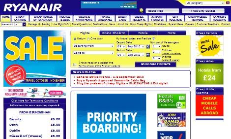 Ryanair ライアンエアー