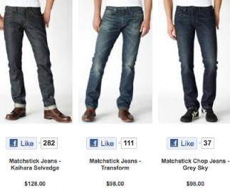 Levis facebook 公式ファンページ 活用例