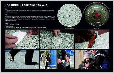 地雷 広告 ユニセフ シール ステッカー