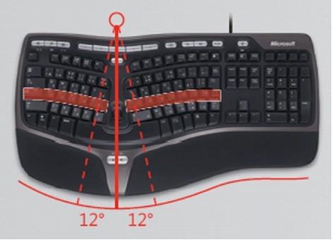 腱鞘炎 防止 対策 予防 マイクロソフト 人間工学 キーボード Natural Ergonomic パソコン
