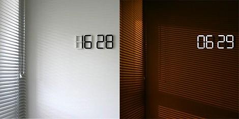 数字 デジタル 掛け時計 LED