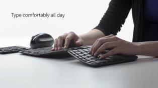 マイクロソフト 人間工学キーボード マンタレイ