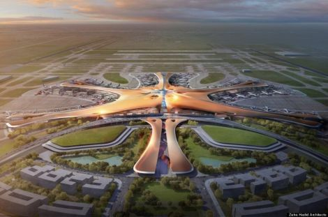 北京大興国際空港 ザハ・ハディド 中国 世界最大のハブ空港