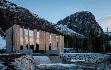 ウーヴレ・フォシュラン発電所 ノルウェー ヘルゲランド 水力発電所 デザイナーズ発電所